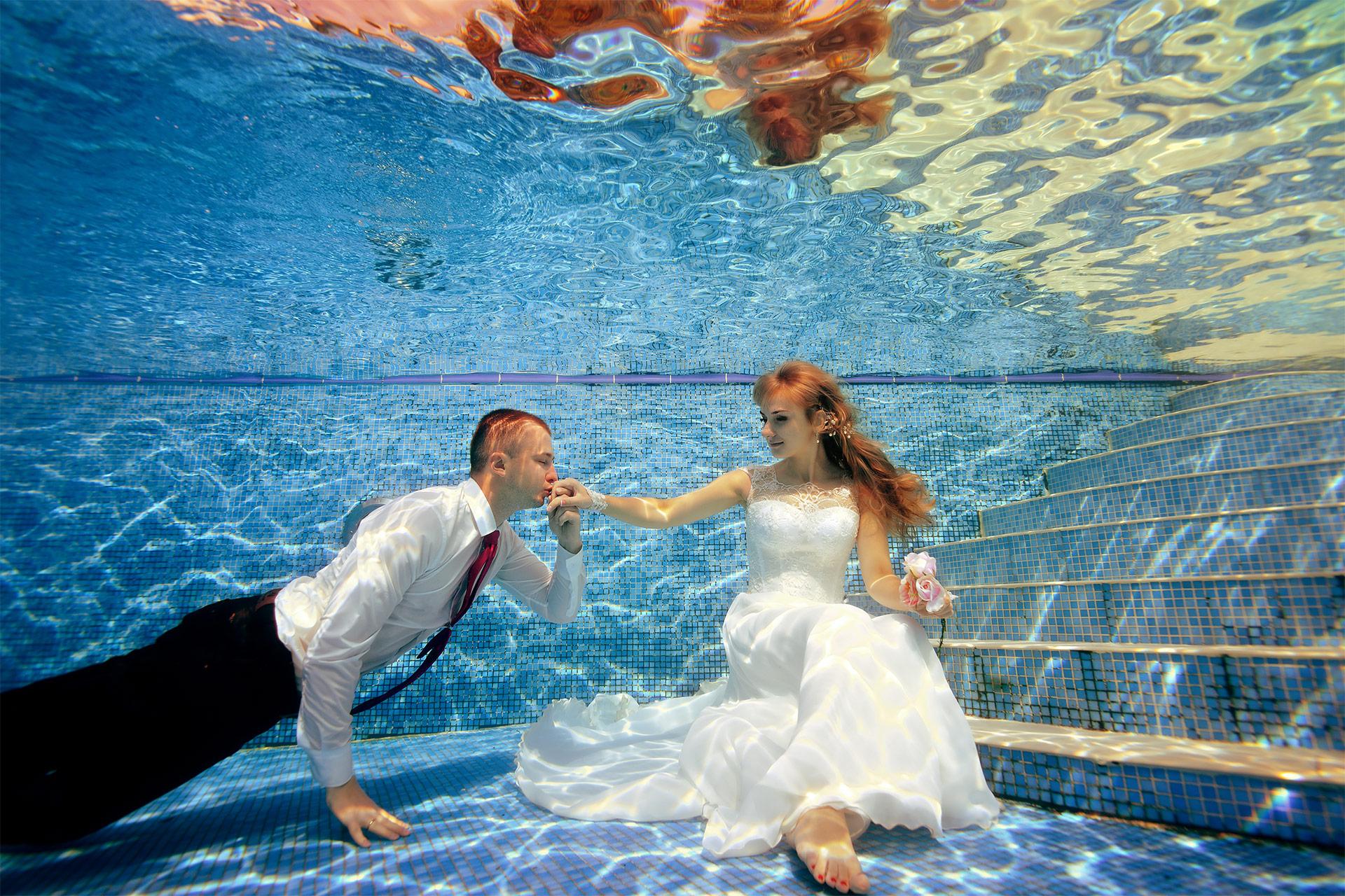 Tauchpixel -Unterwasser Fotoshooting